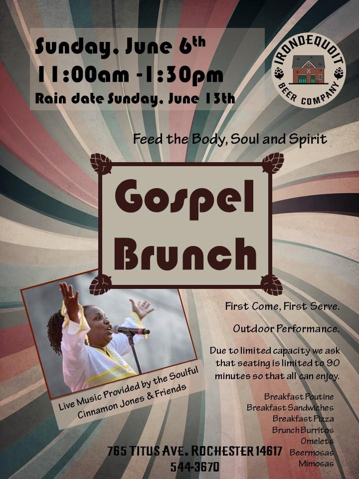 Gospel brunch flyer